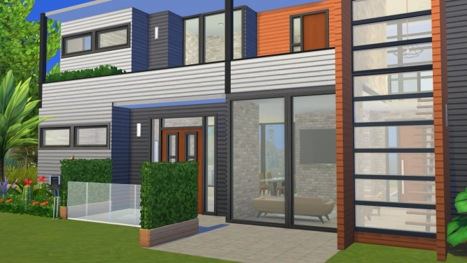 Sims 4 Small Modern House by xperimental.sim at Mod The Sims