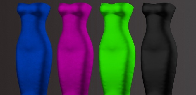 Sims 4 BELLE DRESS by Thiago Mitchell at REDHEADSIMS