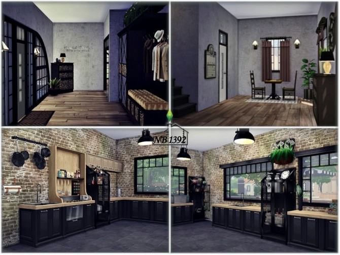 Sims 4 Family Industrial House by nobody1392 at TSR