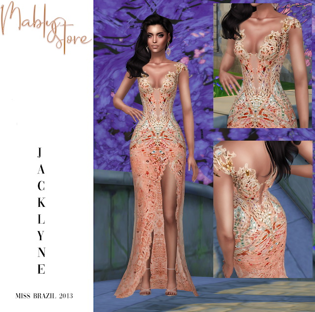 Sims 4 JACKLYNE GOWN at Mably Store