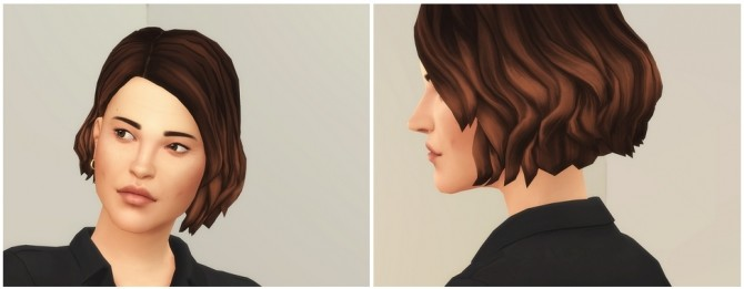 Sims 4 Shaggy Cutting for F / V1 at Rusty Nail