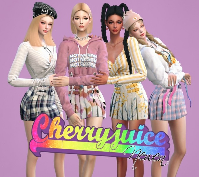Sims 4 Cherry juice set at NEWEN