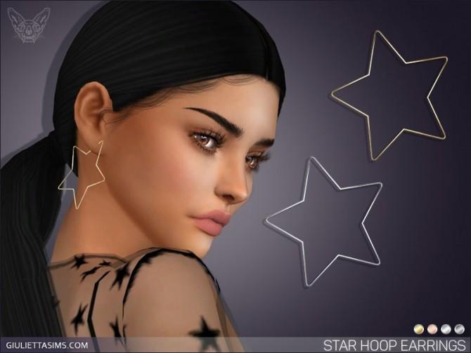 Sims 4 Star Hoop Earrings at Giulietta