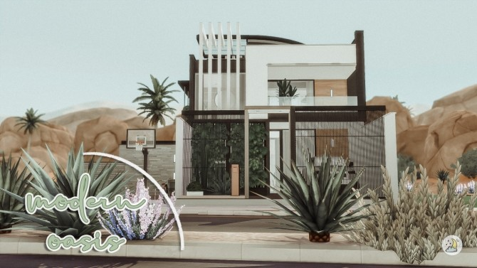Modern Oasis house at Luna Sims image 15913 670x377 Sims 4 Updates