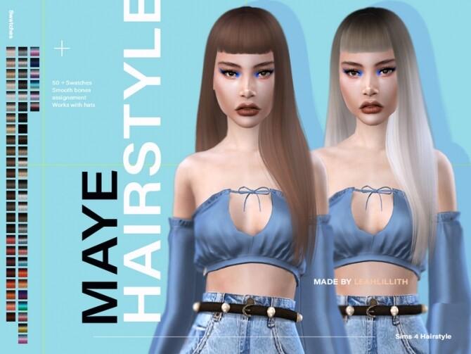 Sims 4 Maye Hairstyle by Leah Lillith at TSR