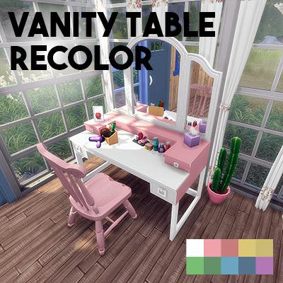 Sims 4 Vanity table recolor at L.Sim
