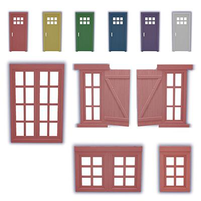 Sims 4 Mega door + window recolor at L.Sim