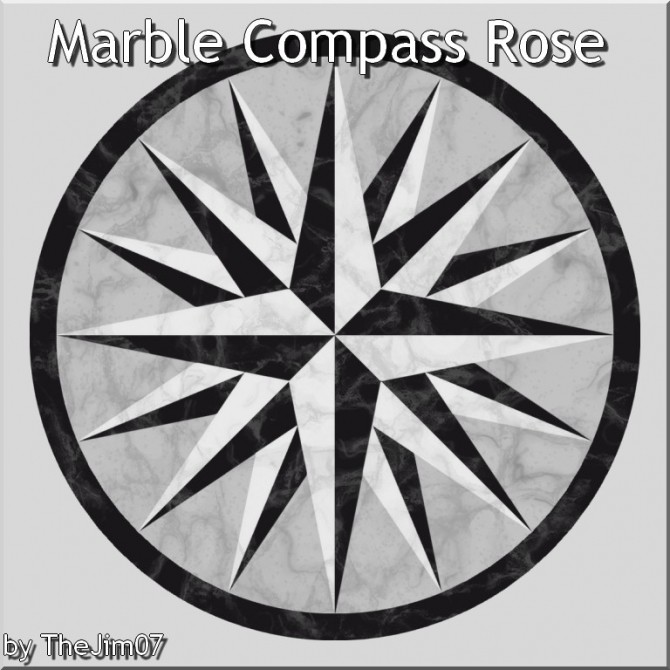 Sims 4 Marble Compass Rose by TheJim07 at Mod The Sims
