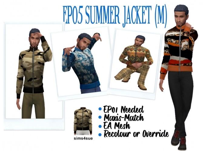 Sims 4 EP05 Summer Jacket at Sims4Sue