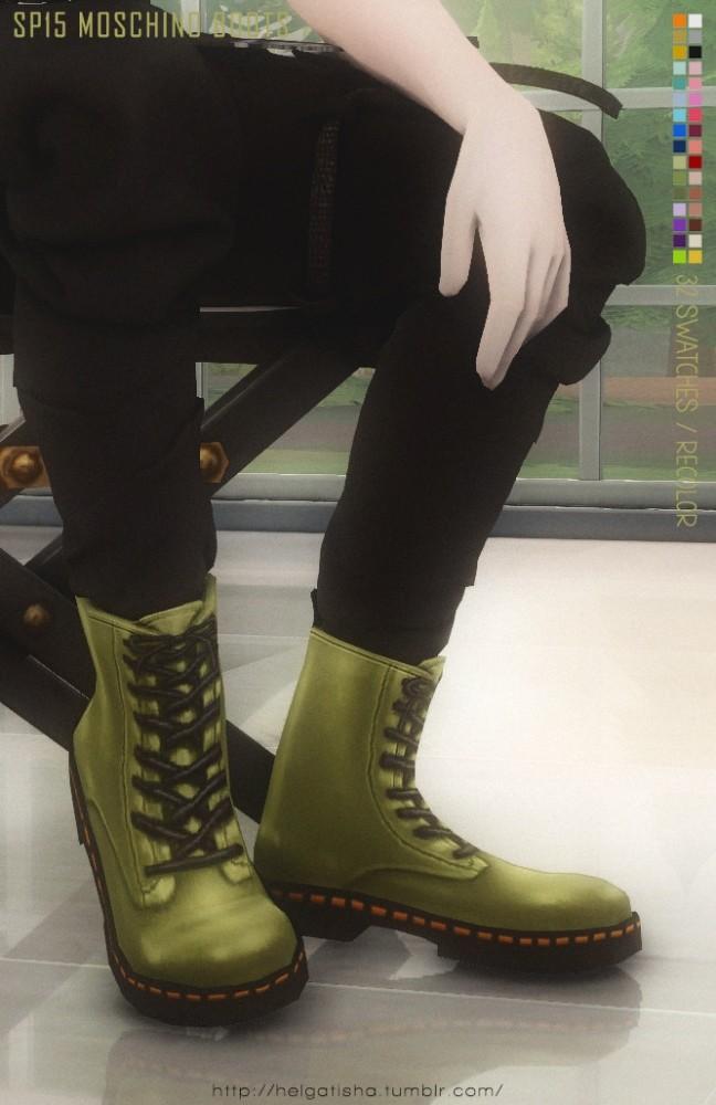 Sims 4 Recolor SP15 Boots at Helga Tisha
