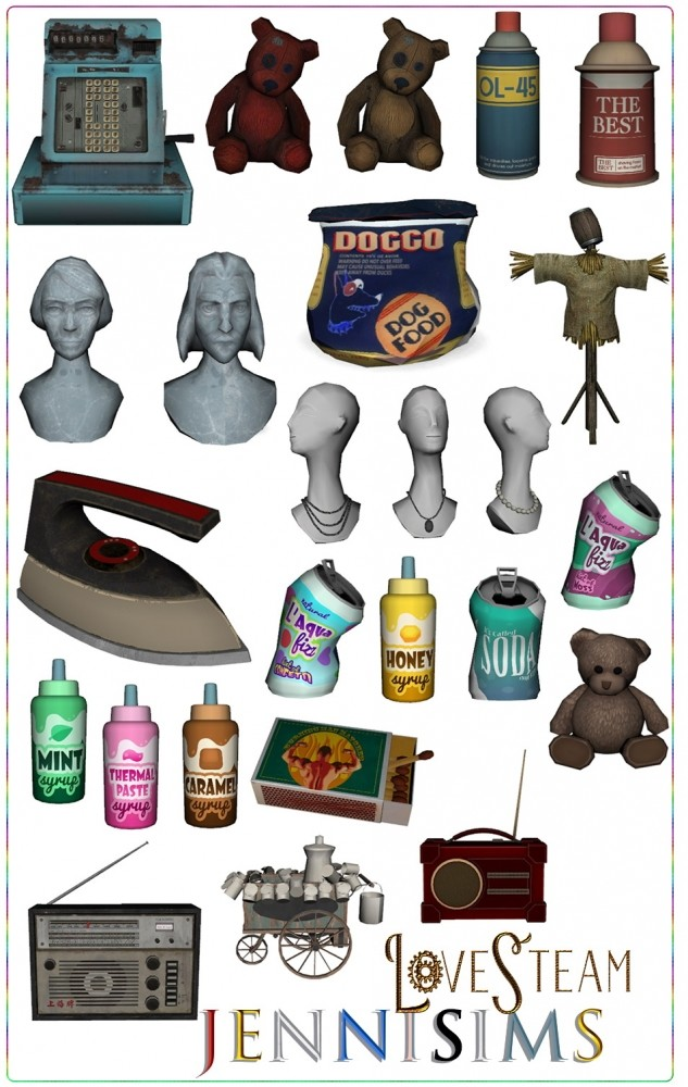 Sims 4 Clutter Decorative 17 Items at Jenni Sims