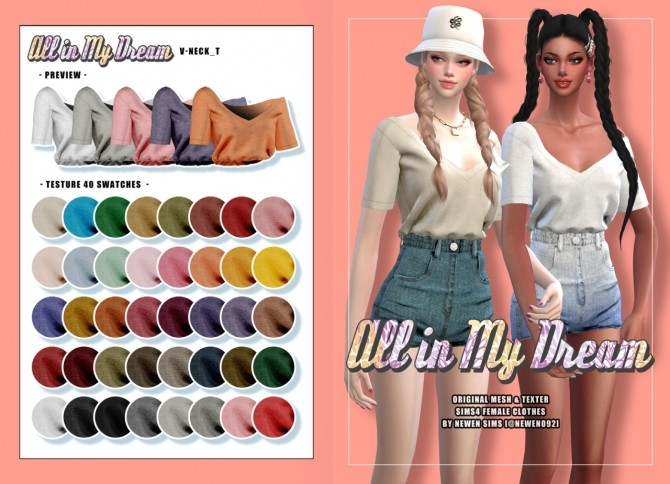 Sims 4 All in my dream set at NEWEN