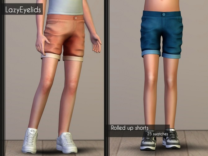T shirt, Rolled up shorts, Hooded vest & Joggers for boys at LazyEyelids image 16712 670x503 Sims 4 Updates