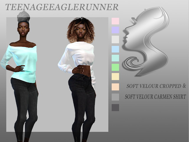 Sims 4 Hot in Here Collection: pants & shirt at Teenageeaglerunner
