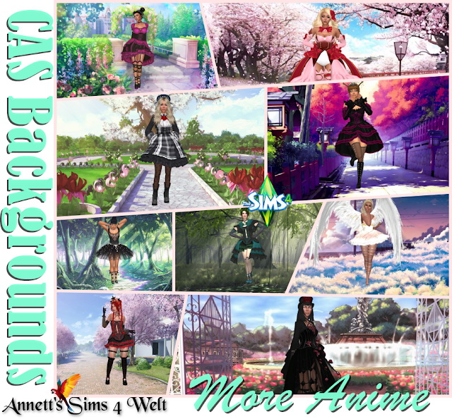CAS Backgrounds   More Anime at Annett's Sims 4 Welt image 16815 Sims 4 Updates