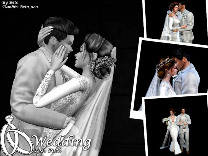 Wedding Pose pack by Beto ae0 at TSR image 1700 670x503 Sims 4 Updates