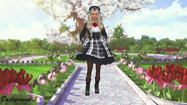 Sims 4 CAS Backgrounds   More Anime at Annett's Sims 4 Welt