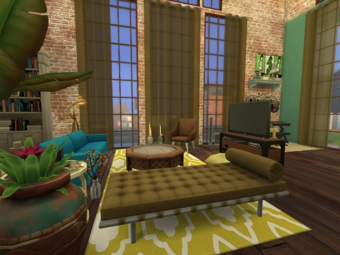 Sims 4 Industrial Loft by MiMsYT at Mod The Sims