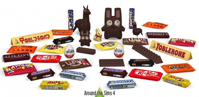 Sims 4 Edible Easter chocolate & candy bars at Around the Sims 4