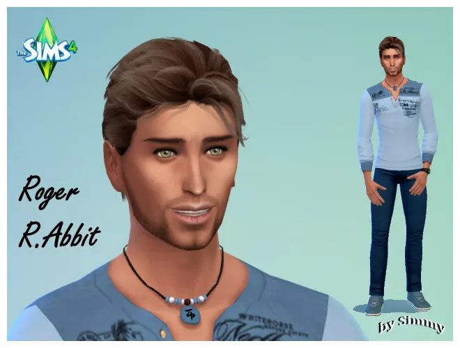 Sims 4 Roger R.Abbit & Peter de Has by Simmy at All 4 Sims