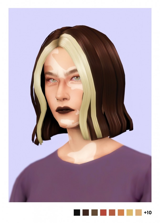 Sims 4 Erin hair + strands accessory at Sulsulhun