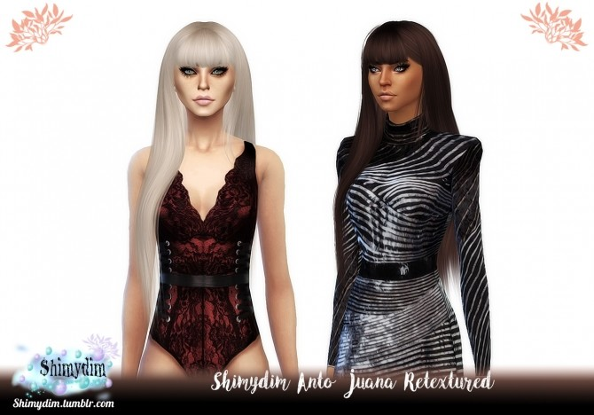 Sims 4 Anto Juana Hair Retexture Naturals + Unnaturals at Shimydim Sims