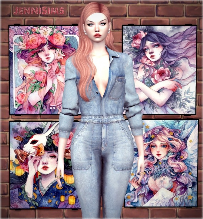 Sims 4 Collection Painting Social Network at Jenni Sims