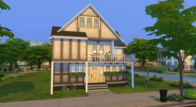 Sims 4 Two storey house NO CC by elliz at Mod The Sims