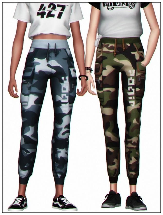 Sims 4 IZZY CAMO PANTS at Clumsyalienn