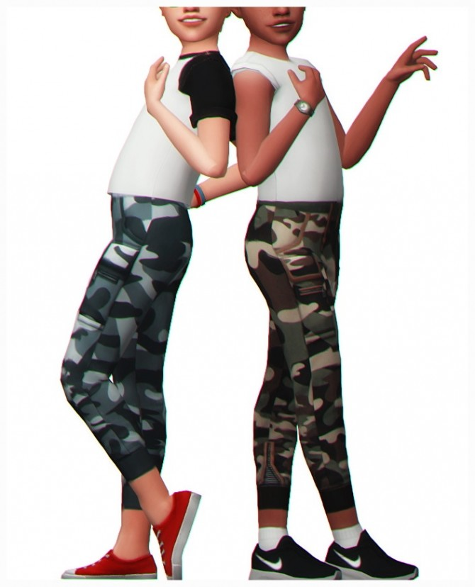 IZZY CAMO PANTS for kids at Clumsyalienn image 1765 670x828 Sims 4 Updates