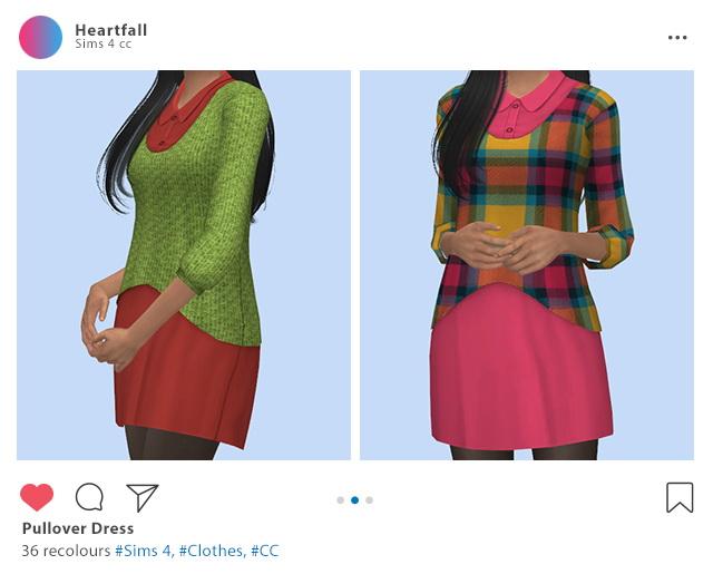 Sims 4 Pullover dress at Heartfall