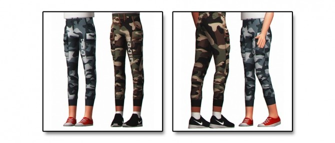 Sims 4 IZZY CAMO PANTS for kids at Clumsyalienn