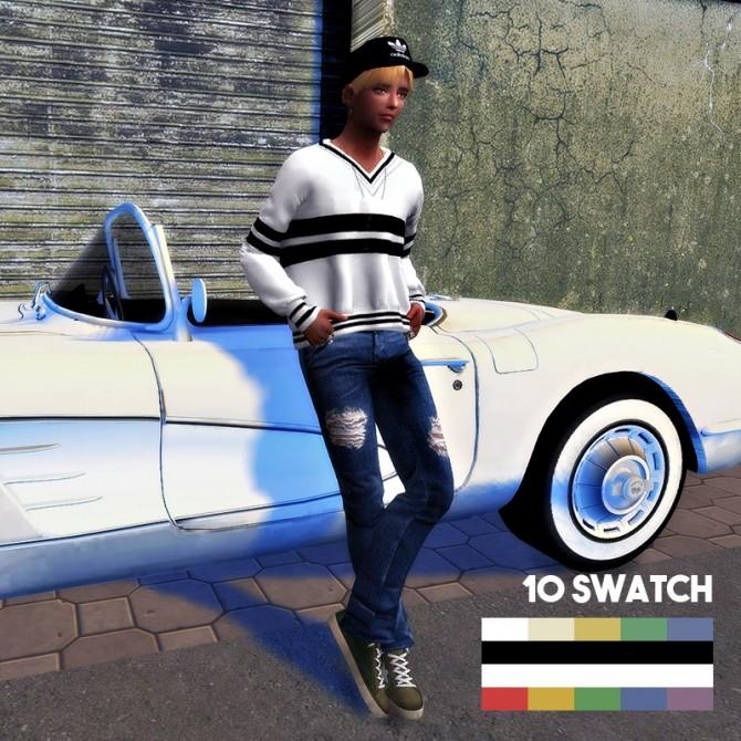 Sims 4 Male V neck T Shirt at L.Sim