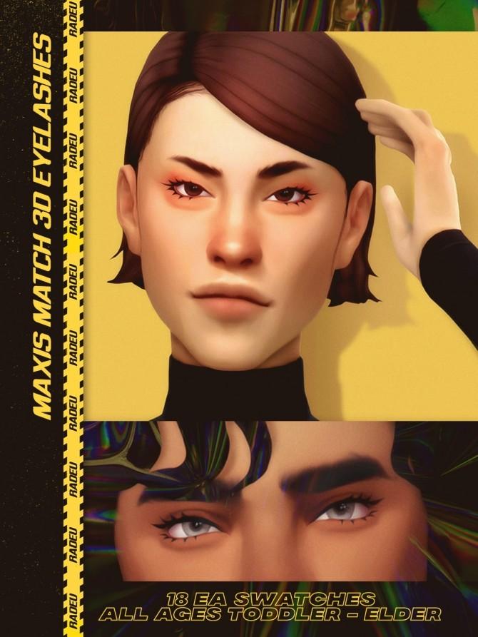 Sims 4 MM (3D) EYELASHES at Radeu