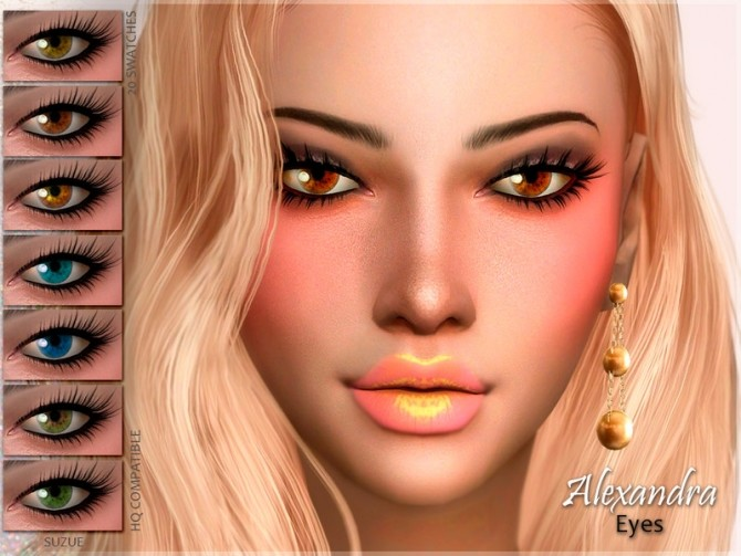 Sims 4 Alexandra Eyes N10 by Suzue at TSR