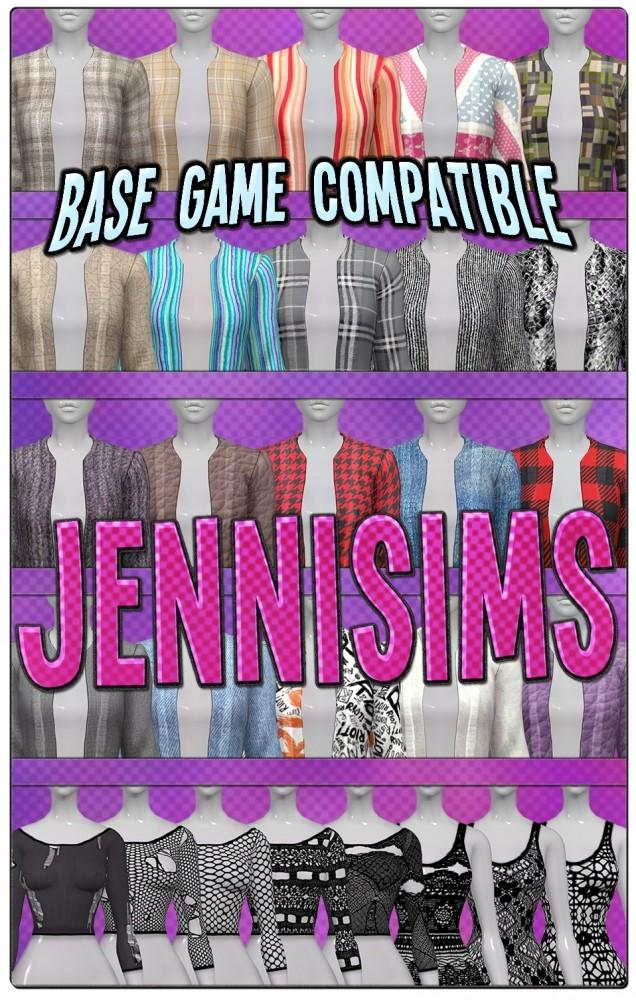 Sims 4 Jacket + ACC Top at Jenni Sims