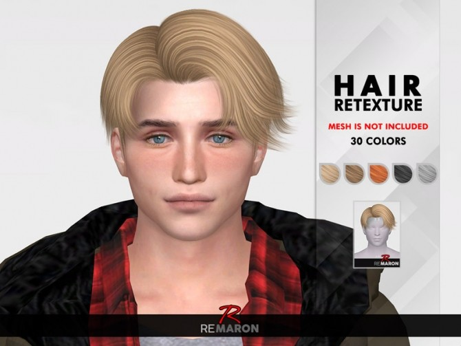 SeHun Hair Retexture by remaron at TSR image 1818 670x503 Sims 4 Updates