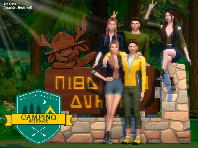 Camping Pose Pack by Beto ae0 at TSR image 1825 670x503 Sims 4 Updates