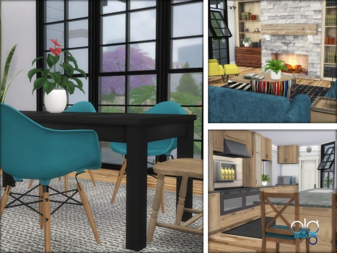 Sims 4 Farmhouse Motif 3 by ALGbuilds at TSR
