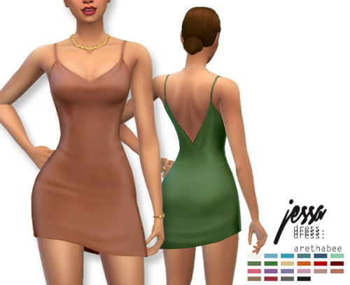 Sims 4 Jessa mini satin ish dress at Arethabee