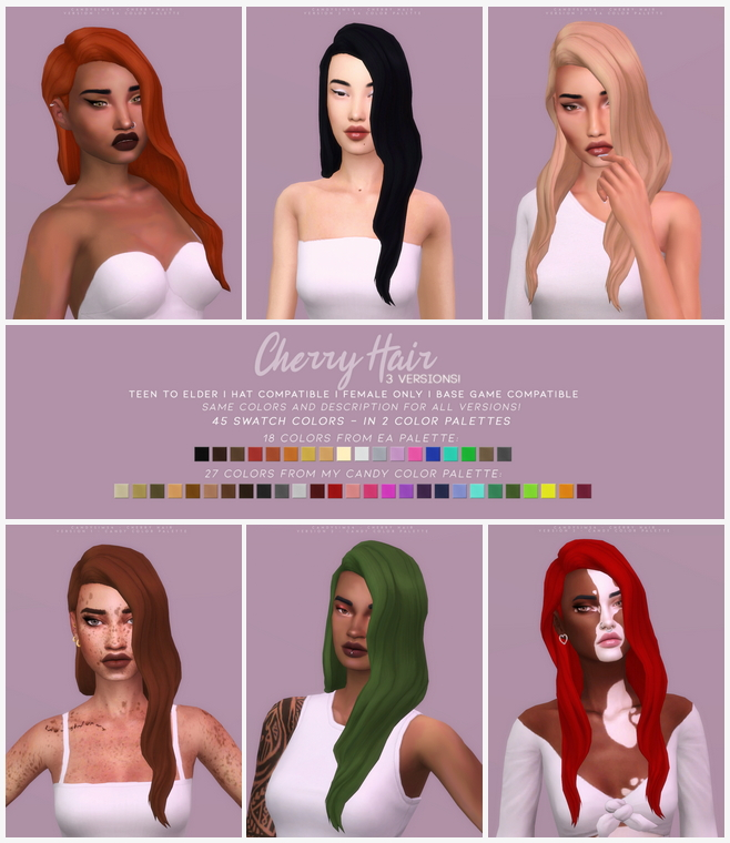 CHERRY HAIR at Candy Sims 4 image 1843 Sims 4 Updates