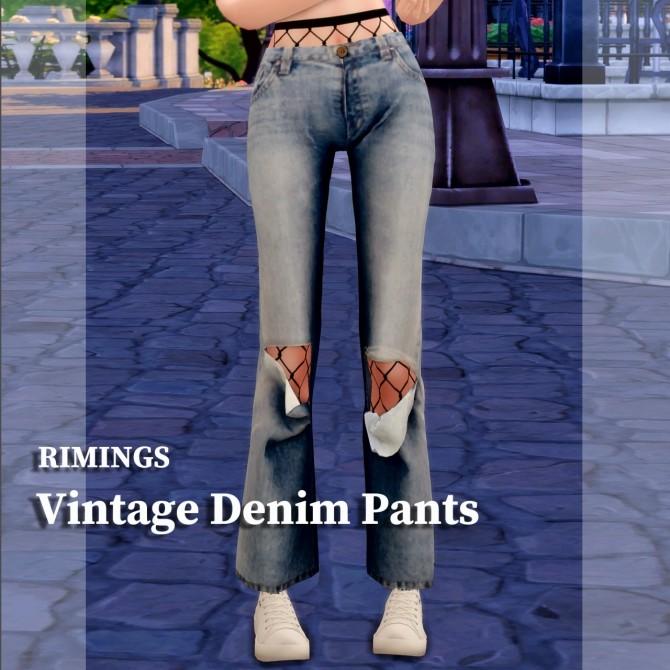 Sims 4 Vintage denim pants at RIMINGs