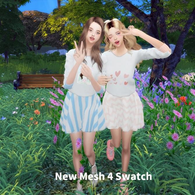 Sims 4 Girl's Dress at L.Sim