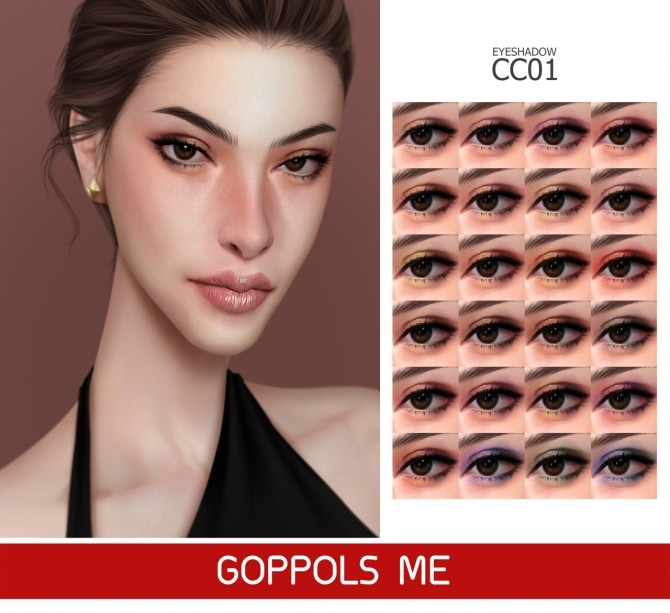 Sims 4 GPME GOLD Eyeshadow CC 01 at GOPPOLS Me