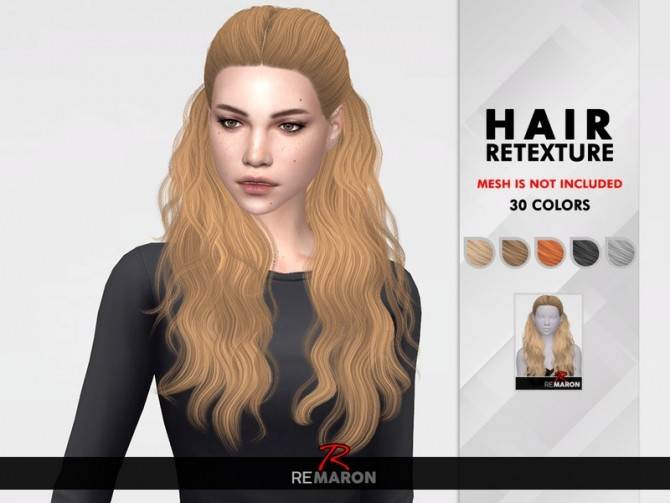 178 Hair Retexture by remaron at TSR image 1860 670x503 Sims 4 Updates