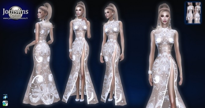 Sims 4 Nelween dress at Jomsims Creations