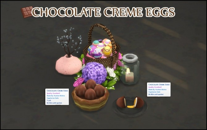 CHOCOLATE CREME EGG at Icemunmun image 1892 670x423 Sims 4 Updates