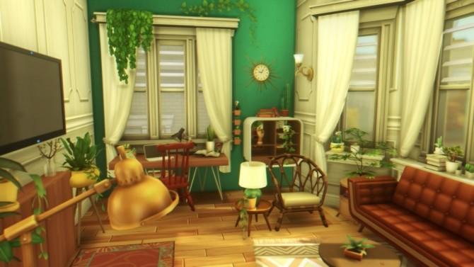 Sims 4 Boho apartment at a winged llama