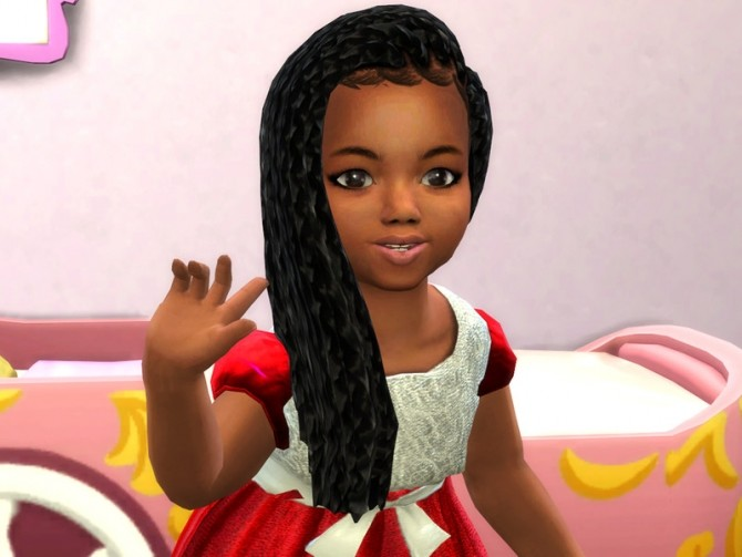 Sims 4 Box Braids Side for Toddler by drteekaycee at TSR