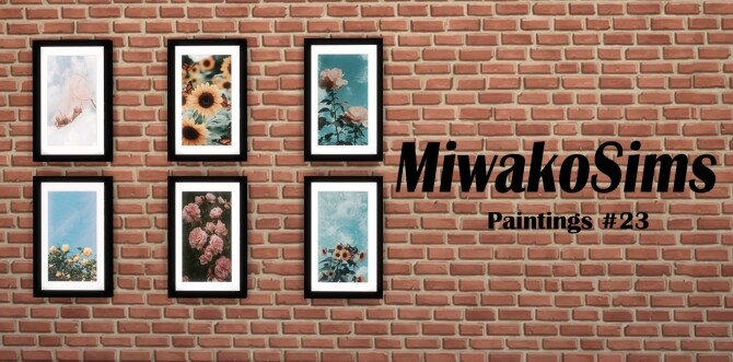 Sims 4 Collection paintings #23 at MiwakoSims